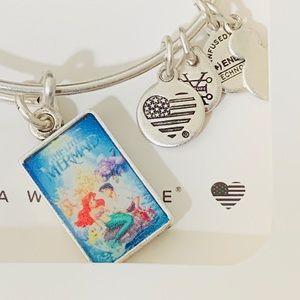 Disney Alex and Ani Little Mermaid VHS Bracelet